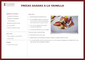 Fresas asadas con nata