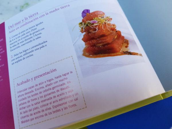Detalle del interior del libro de cocina edición especial de Montse Estruch