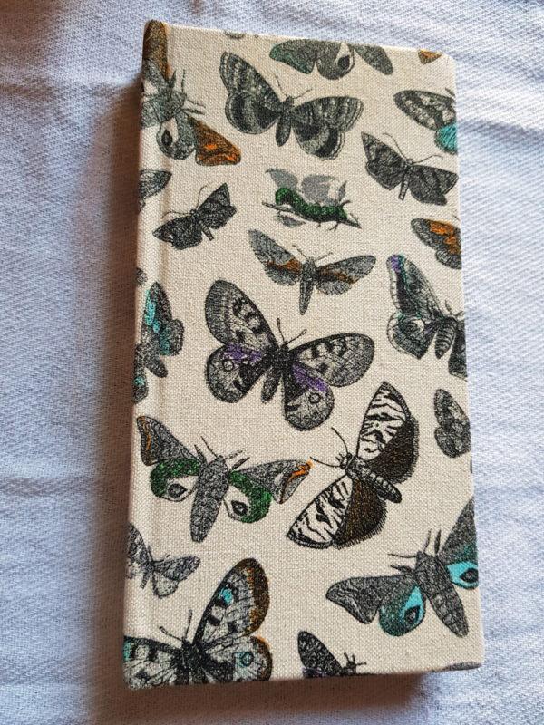 Libreta cosida modelo mariposas , encuadernada a mano, edición única