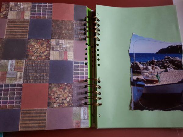 Detalle interior de la libreta Colores.