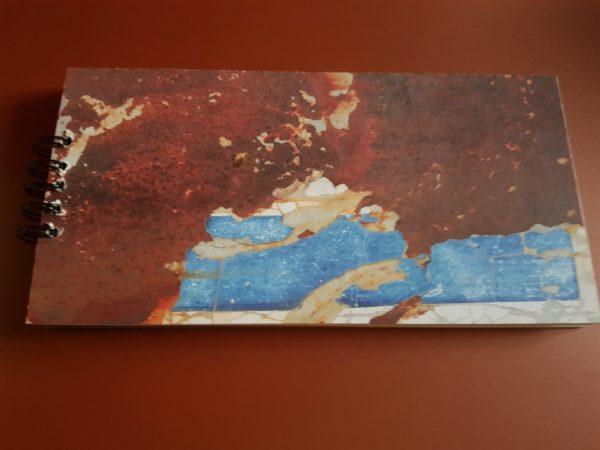 Libreta encuadernada a mano, papel modelo tierra