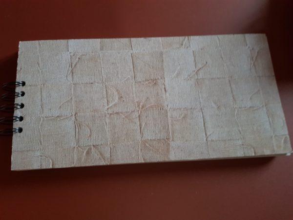 Libreta hecha a mano, papel imitación tela de saco