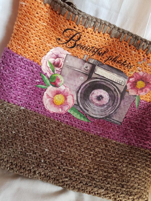 Detalle de la aplicación textil del bolso Beautiful