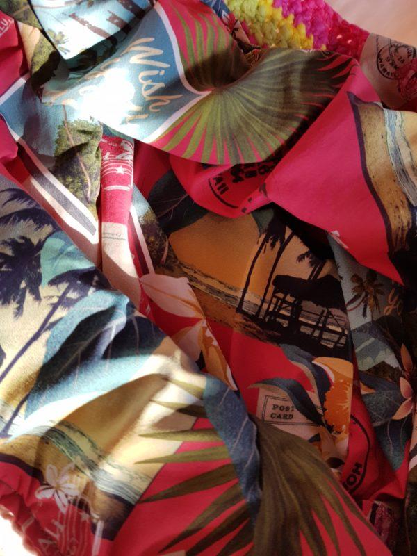 Detalle de la tela del bolso Hawuai