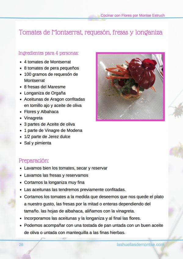 Cocinar con pétalos de flores por Montse Estruch pagina 28 receta